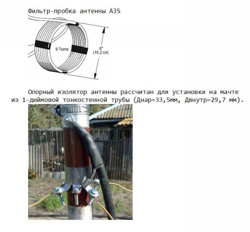 Вертикальная антенна на диапазоны 40, 20 и 15 метров